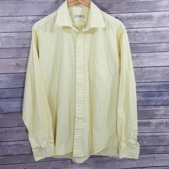 Burberry Shirts   Yellow Long Sleeve Buttonup Shirt   Poshmark e7e6004d10